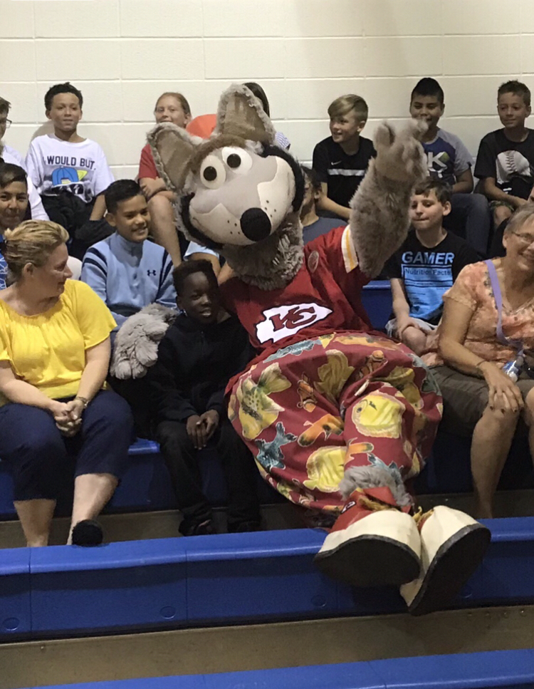 KC Wolf at Central Elementary